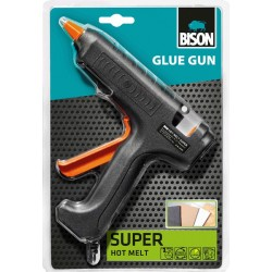 Πιστόλι Θερμαινόμενης Σιλικόνης BISON GLUE GUN SUPER 60W 24834