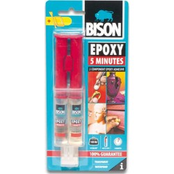 Κόλλα Bison EPOXY 5 MINUTES ΠΟΛΥ ΓΡΗΓΟΡΗ 24ml 66638