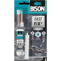 Κόλλα Bison Fast Fix2 Liquid Metal 10gr 27532