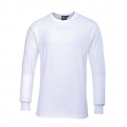 Θερμική μπλούζα με μακριά μανίκια Portwest B123 ΛΕΥΚΟ