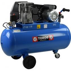 Αεροσυμπιεστής Μονοφασικός TOROS N2.8S-100C-3M (3HP) - 602008