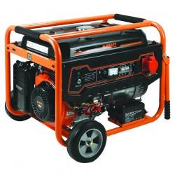 Ηλεκτρογεννήτρια βενζίνης Τριφασική (400V) με μίζα 7.000W KRAFT LT-9000-3 (63736)