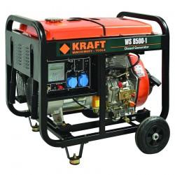 Ηλεκτρογεννήτρια Πετρελαίου Μονοφασική 6.500W - 8.0KVA (230 volt) KRAFT WS 8500-1 (63773)