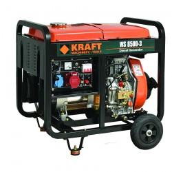Ηλεκτρογεννήτρια Πετρελαίου Τριφασική με Μίζα, Μπαταρία 6.000W KRAFT WS 8500-3 (63774)