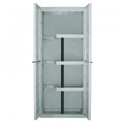 Ντουλάπα Πλαστική (με χώρο για σκούπα) Δίφυλλη 70x39x165cm ArtPlast SPAZIO S70/PS (610003)