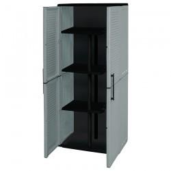 Ντουλάπα Πλαστική (με ράφια & χώρο για σκούπα) Δίφυλλη 68x37x163cm ArtPlast EASYLINE E71/PS (610009)