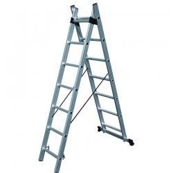 Σκάλες ΔΙΠΛΕΣ Επεκτεινόμενες Αλουμινίου Επαγ/κές 631110
