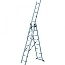 Σκάλες ΤΡΙΠΛΕΣ Επεκτεινόμενες Αλουμινίου Επαγ/κές 631120
