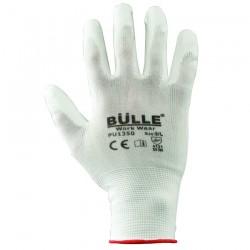 Γάντια Εργασίας Πολυουρεθάνης Λευκά BULLE 702105