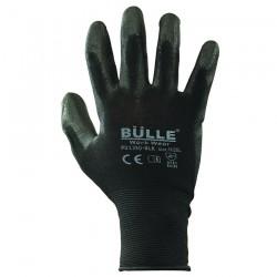 Γάντια Εργασίας Πολυουρεθάνης Μαύρα BULLE 702109