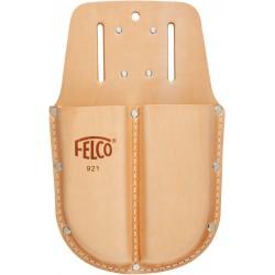 Θήκη διπλή απο γνήσιο δέρμα με υποδοχή για ζώνη και clip FELCO 921