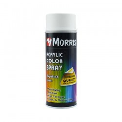 Σπρέi χρώματος ακρυλικό Λευκό Ματ Morris  (RAL 9010) 400ml